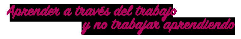 APRENDER A TRAVÉS DEL TRABAJO Y NO TRABAJAR APRENDIENDO, CLMFPDual
